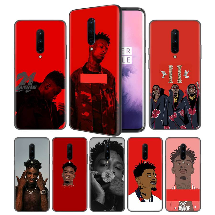 21 savage MIgos Hip Hop Soft Black Silicone Case Cover for font b OnePlus b font