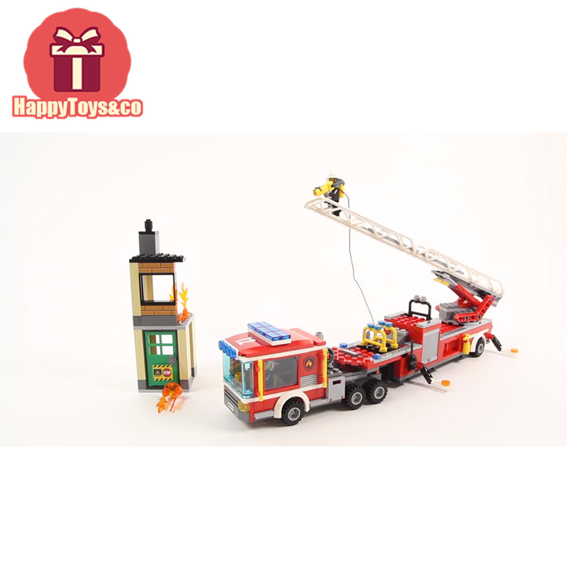 Legoing City series 60112 421Pcs Fire Engine toys For Children Gift 02086 Building Blocks Set Compatible Education MIni