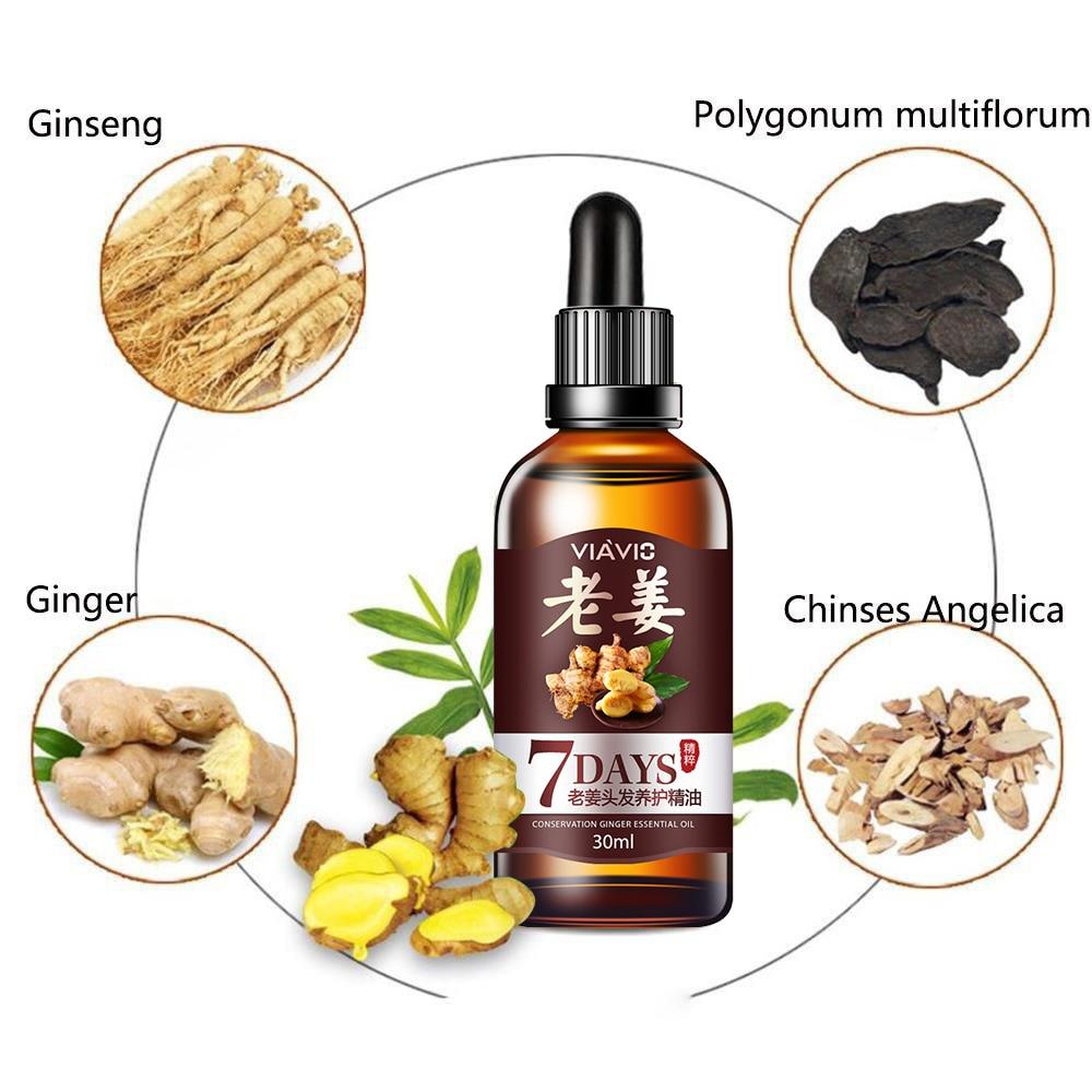 30ml Hair Loss Treatment Ginger Hair Care Fast Hair Growth Essence Oil for Men Women TSLM2 5