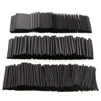 415pcs Black Heat Shrink Sleeve HeatShrink Tubing Sleeving Wrap Wire Insulation Materials Elements NEW