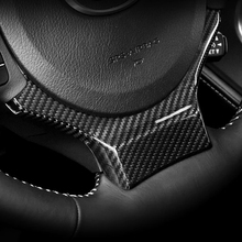 JEAZEA New Car Steering Wheel Carbon Fiber Trim Cover Add-on Trim Cover Sticker for Lexus NX200t 300h IS200t CT200h RC GS-F