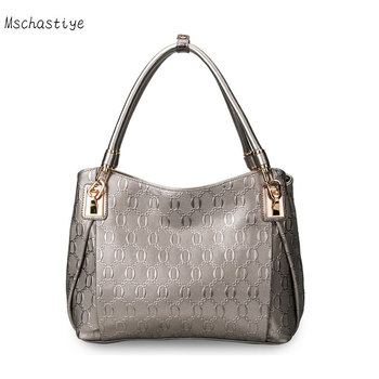 Mschastiye Cow Leather Handbags women Genuine Leather tote bags large capacity 2018 fashion Ladies Shoulder bags and tote bags