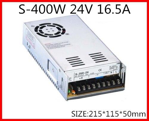 S-400-24 400W 24V 16.5A Single Output Switching power supply for LED Strip light AC-DC s 400 15 400w 15v 27a single output switching power supply for led strip light ac dc