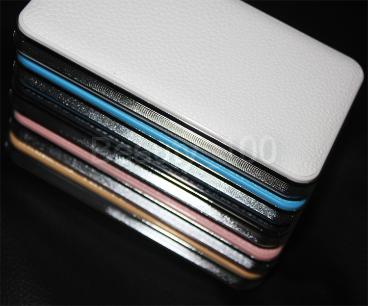 Newest Leather Power Bank 8000mah Portable Charger Powerbank Mobile Phone Backup Powers External Battery Charger With Package