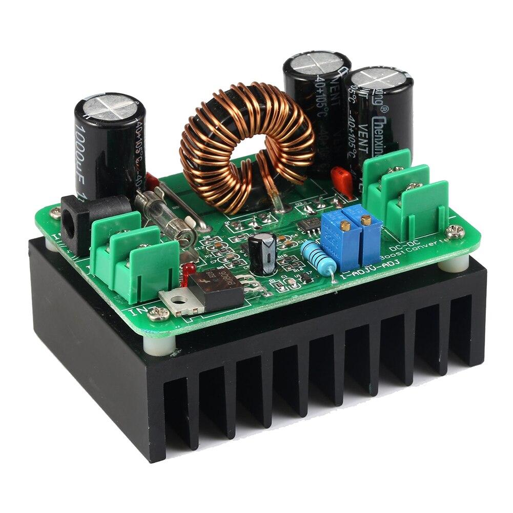 DC/DC Boost Converter 10-60V to 12-80V Step-up Voltage Regulator 600W Auto Power Supply Transformer Adjustable wholesale 1pcs dc dc step up converter boost 2a power supply module in 2v 24v to out 5v 28v adjustable regulator board dropship