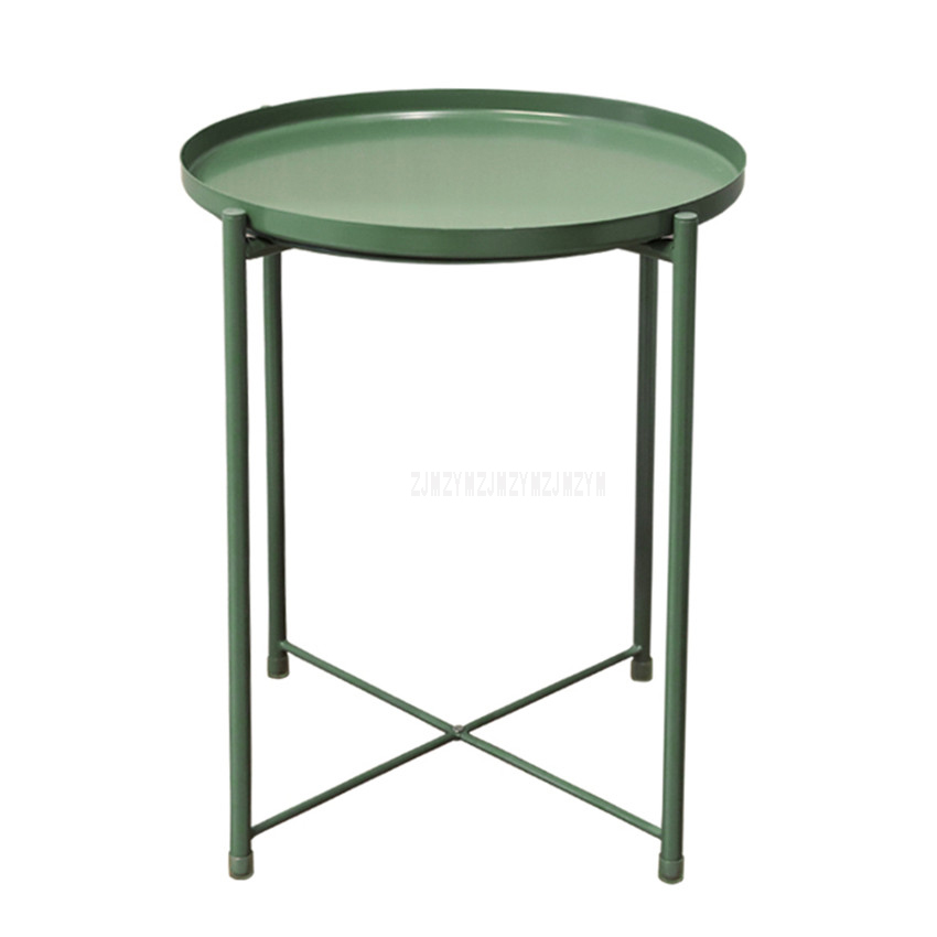 Nordic Style Modern Metal Round Tray Small Tea Table