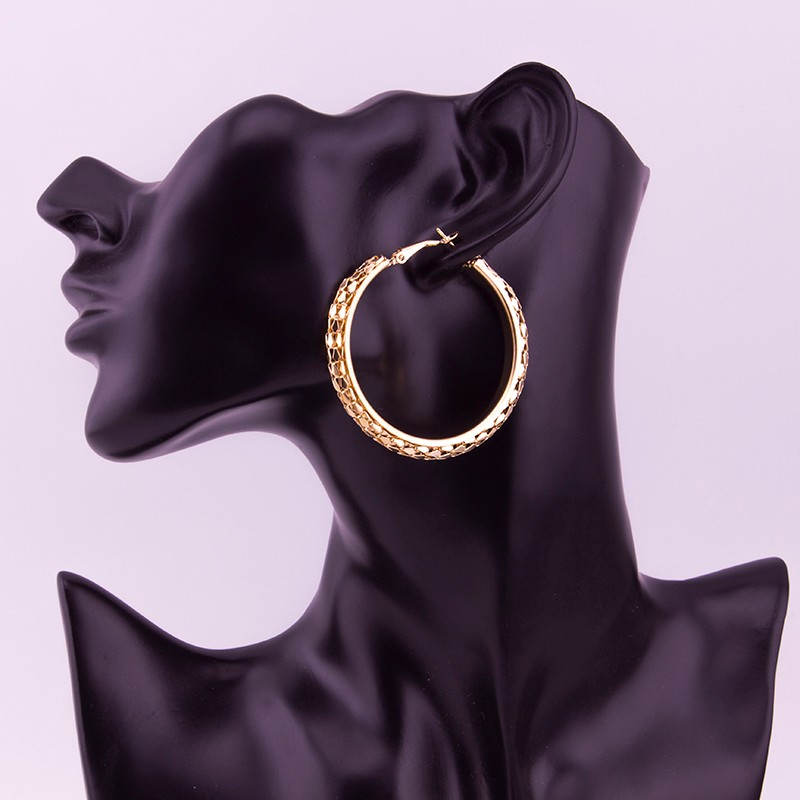 HTB1dMrTOFXXXXcoaXXXq6xXFXXXU - Simple Fashion Style 5CM Big Hoop Earrings Jewellery for Women Metal Alloy Vintage Round Earring