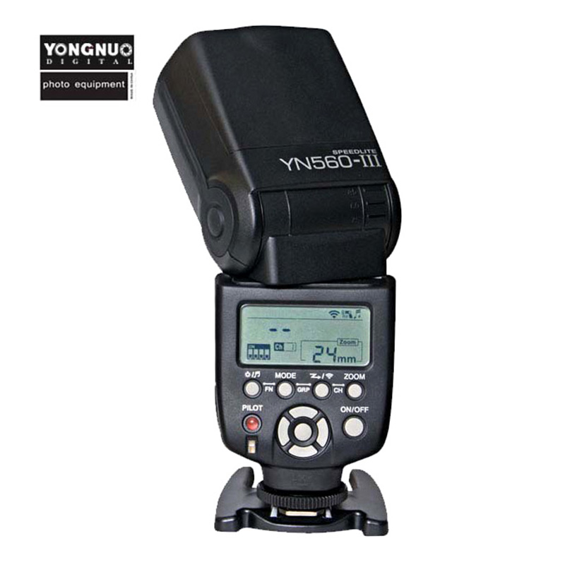 Yongnuo YN560 III Ultra-long-range Wireless Slave Flash Speedlite For Canon Nikon Pentax Panasonic Olympus HSS 1/8000s Master TT spash sl 685c gn60 wireless master slave flash light ttl speedlite for nikon lcd screen cameras flash adjustable fill light
