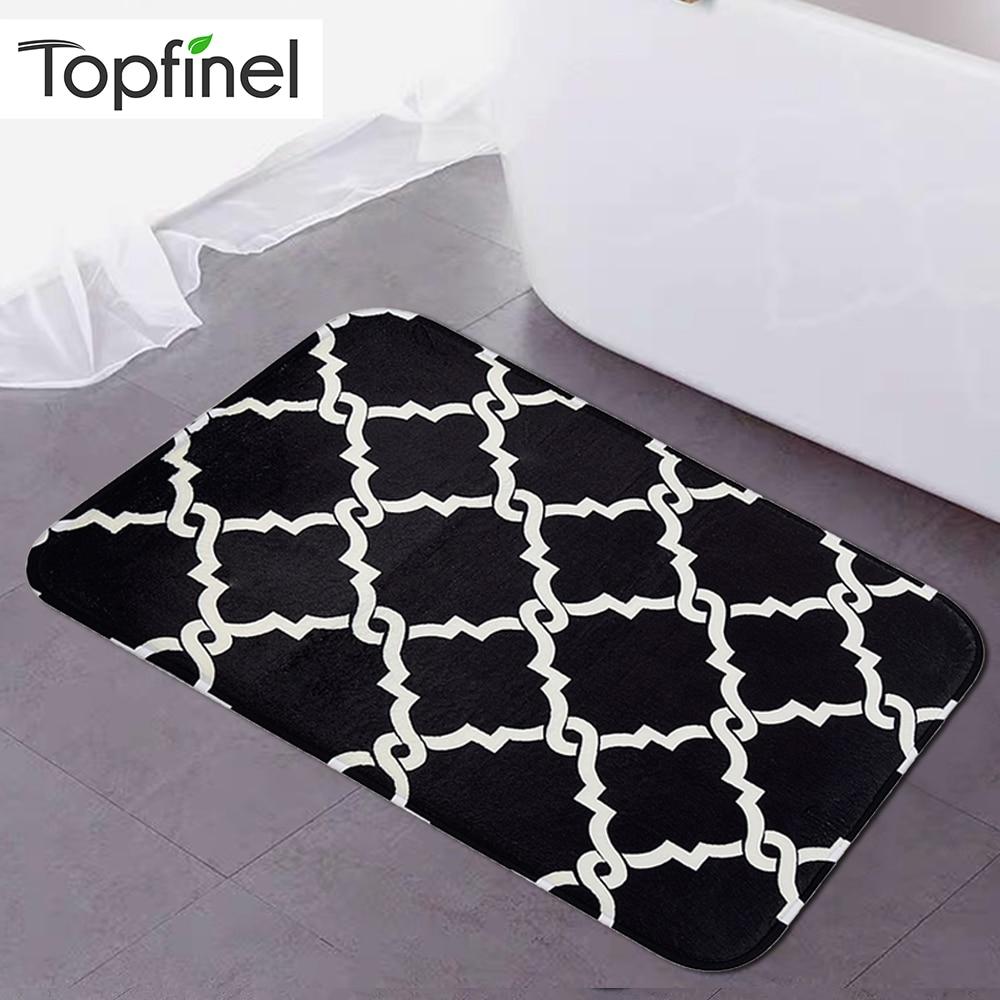 Topfinel Bath Mat Quatrefoil Geometric