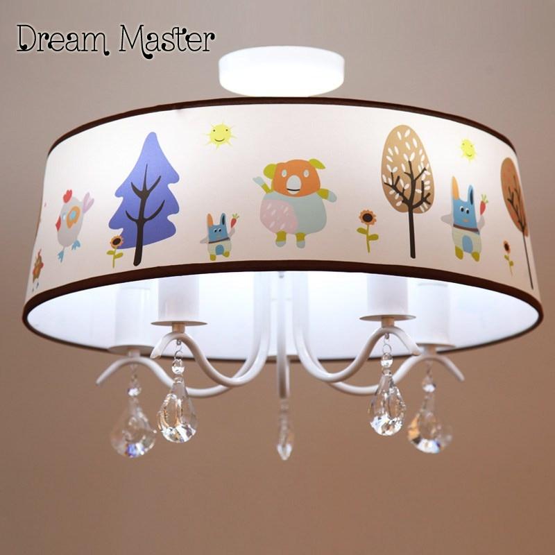 Warm pastoral LED cartoon creative chandelier children's room bedroom lamp  boy Girl Bedroom crystal chandelier free shipping m sparkling td303 creative cartoon 3d led lamp