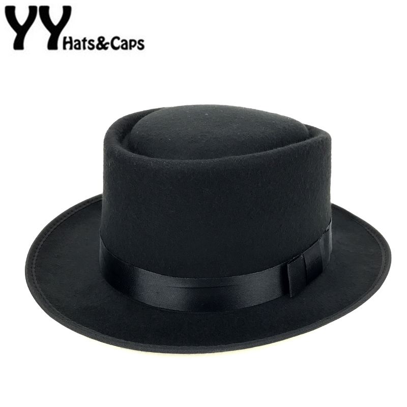 New Wool Felt Pork Pie Crushable Hat BREAKING BAD Hat Walter for Men Dames Trilby Wolmuts Chapeu de Feltro 6 Kleuren YY0768