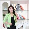 Novedad Green Slim Moda Primavera Verano Formal Profesional Business Women Work Wear Blazer Tops Escudo Chaquetas Blazers Femenino