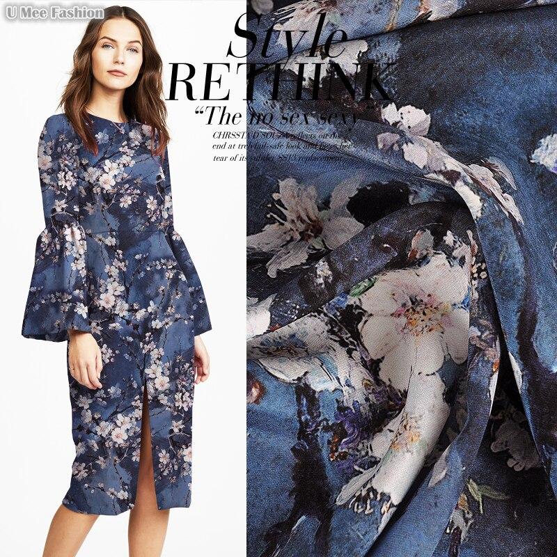 SCC008 Silk Crepe Crepe/ Wintersweet/Silk Fabric Mulberry Silk 90% Silk 10% Spandex Elastic/ Width1.18yd Thickness28mm - 2