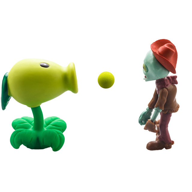 2015 New Popular Game Plants vs Zombies Peashooter PVC Action Figure Model Toys 9 Style Plants Vs Zombies Toys For Baby Gift 52pcs set plants vs zombies pvz collection figures toy all the plants and zombies figure toys free shipping