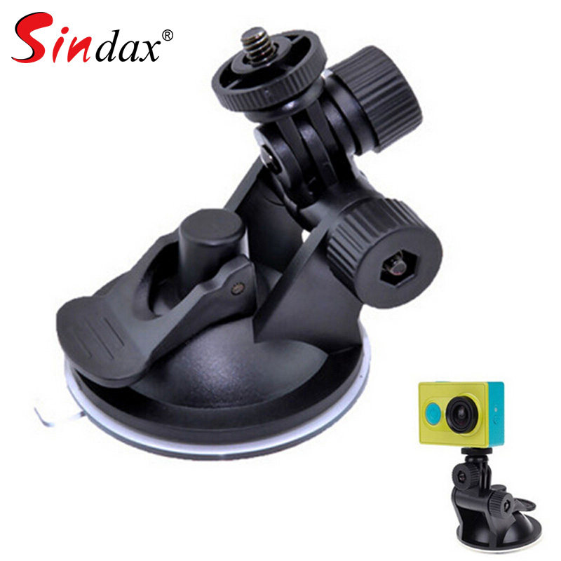 Universal Mini Car Suction Cup Mount Tripod Holder Car Mount Holder For Car GPS DV DVR Xiaomi Yi 4k Action Camera Accessories