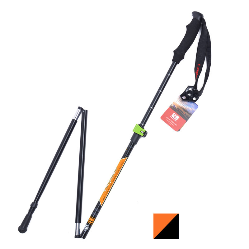 Image 5 - VILEAD Stable 36 125cm Walking Sticks 7075 Aluminum Hiking Trekking Poles Ultralight Camping Folding Nordic Telescopic Crutches-in Walking Sticks from Sports & Entertainment