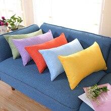Наволочка на День святого Валентина, наволочка Housse coussin, прямоугольные Льняные декоративные подушки для дивана, cojin 30x50, наволочки для домашнего декора