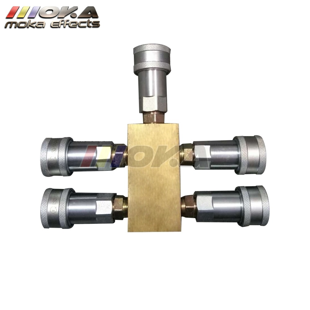 Factory co2 jet machine spare parts 3 Way gas splitter quick connector two machines share one gas tank high quality Copper PipeFactory co2 jet machine spare parts 3 Way gas splitter quick connector two machines share one gas tank high quality Copper Pipe