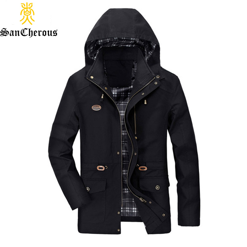 2019 New Autumn 4 Colors Man Casual Outwear Hooded Man Coat Stand Hooded Man Jacket Size M-5XL