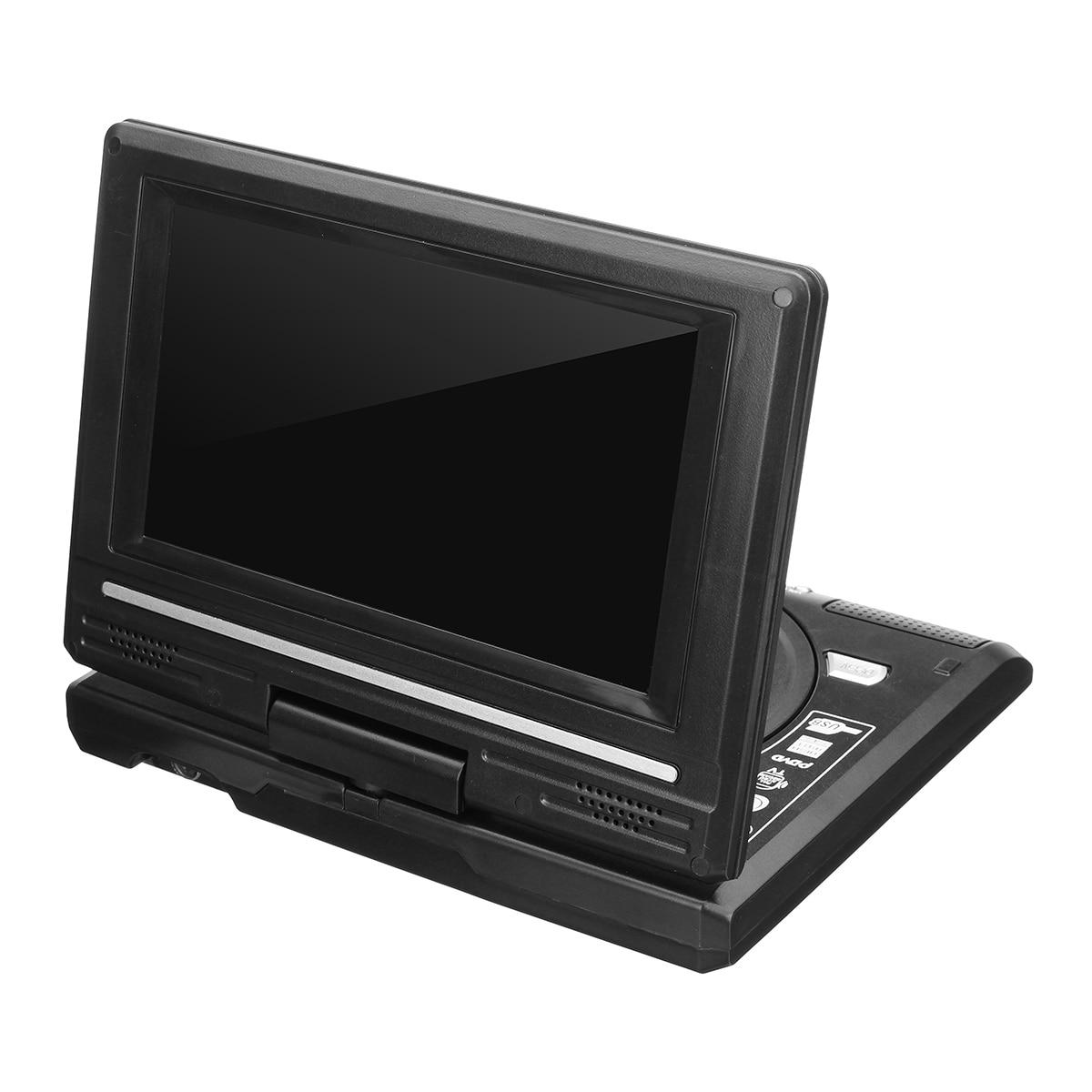 Portátil de 7,8 pulgadas HD TV casa coche reproductor de DVD VCD CD MP3 DVD USB SD reproductor de tarjetas RCA TV Portatil juego de Cable 16:9 pantalla LCD giratoria - 3