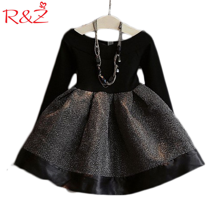 цены на 2016 Spring and Autumn New Korean fashion girls sweet o-neck long-sleeved waist stitching lovely princess dress free shipping в интернет-магазинах