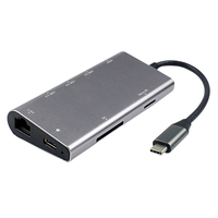 TYPE-C to HDMI8 1 hub HUB Gigabit NIC 4K HD dönüştürücü