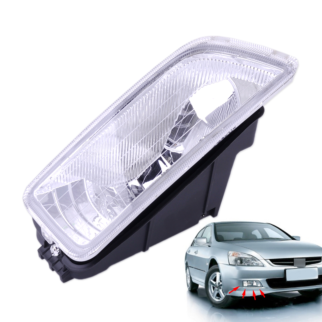 CITALL 33901-SDA-H01 Front Right Side Fog Light Lamp Cover Shell Fit for Honda Accord 2003 2004 2005 2006 2007