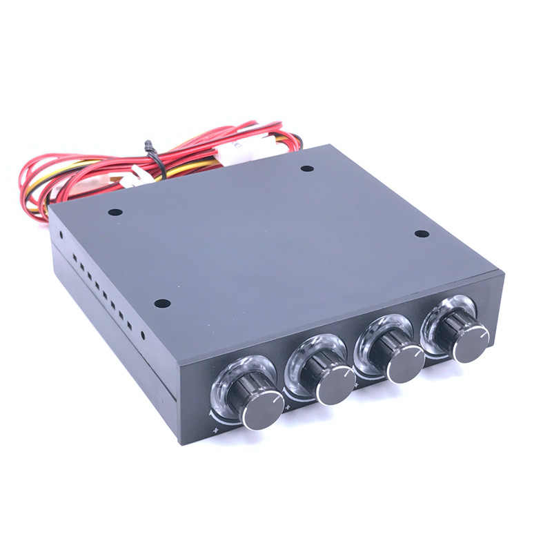 SXDOOL STW-6002 4 kanałowy regulator prędkości wentylatora z niebieskim kontroler LED i procesor dysku twardego VGA