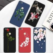 Матовый чехол для телефона Bloom для Xiaomi Redmi 4A 4X S2 полная защита для RedMi Note 4 7 4X 5A Prime 5 6 Pro цветной чехол s Fundas