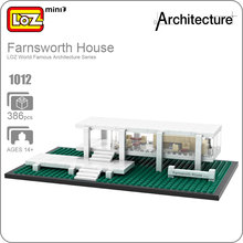 LOZ ideas Mini Blocks Farnsworth House Architecture Building Bircks DIY Toy Educational Children Gift Kids Assembly Toys 1012