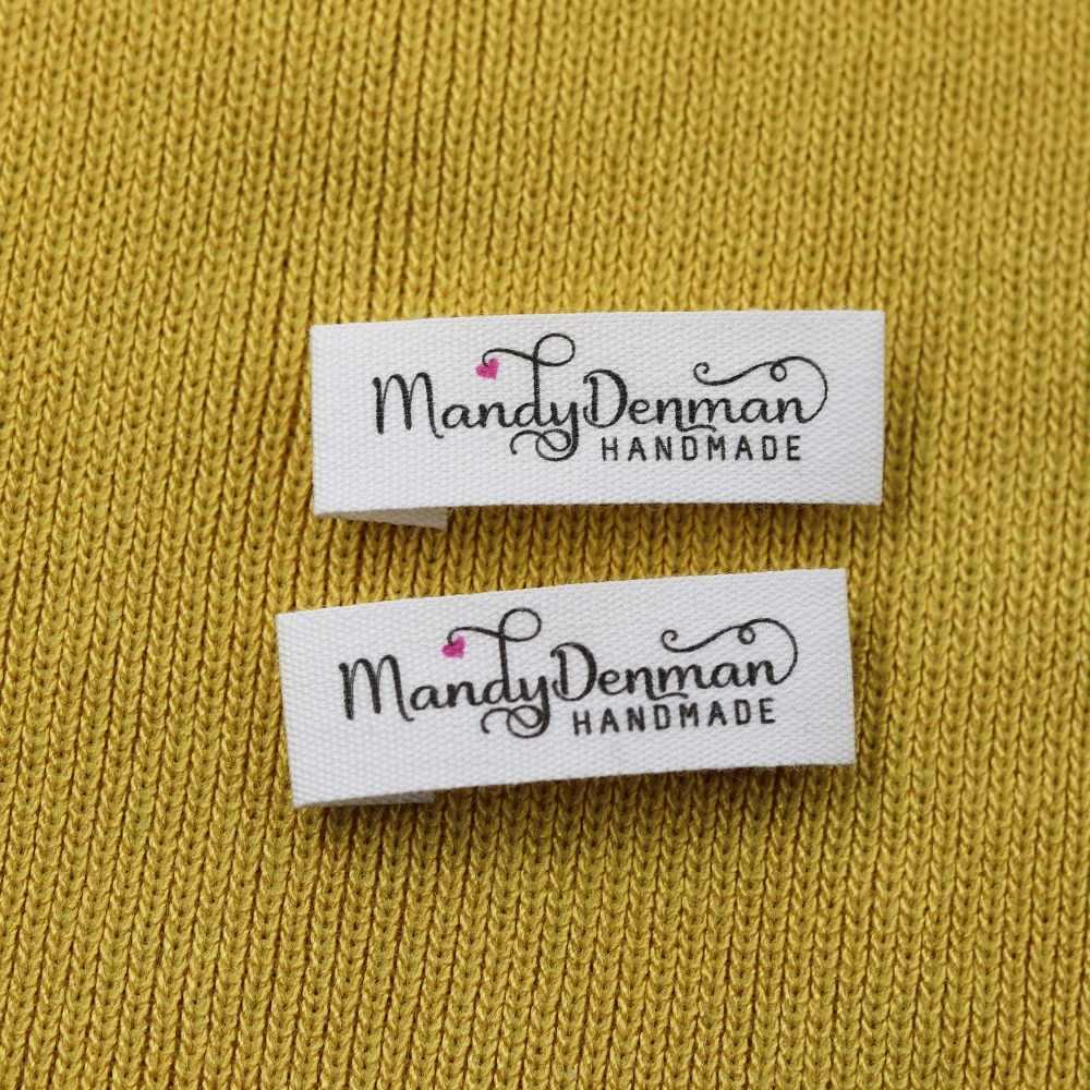 Custom เย็บป้าย Handmade หมวดหมู่,เด็กที่กำหนดเองป้ายชื่อ,ผ้าฝ้ายริบบิ้นป้าย, โลโก้ป้าย (MD007)