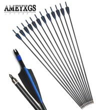 6/12pcs Spine 500 Fiberglass Arrows 31.5inch Composite Arrow Shaft Fit For Hunting Shooting Archery Accessories