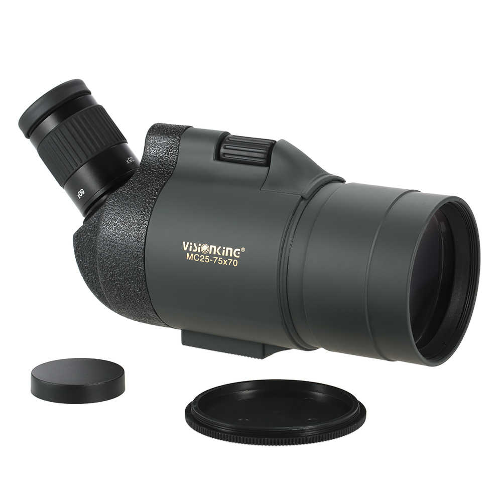 היקף אכון 25-75x70 Visionking טלסקופ משקפת משקפת Bak4 פריזמה טלסקופ עם חצובה תיק עבור ציד עמיד למים