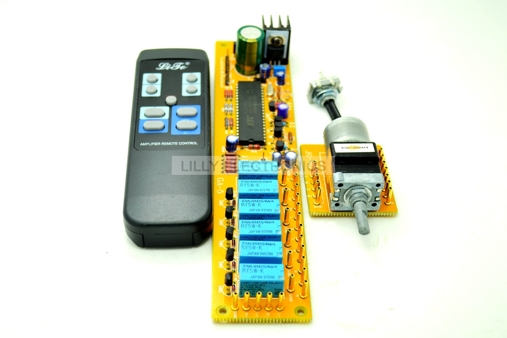 Lite GA-5 4 ALPS Remote volume control 4 ways board combined motor AC9-12V RCA input batman 66 volume 4