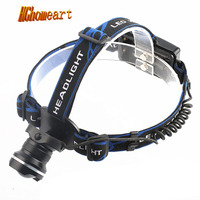 HGhomeart headlamp 2* 18650 rechargeable T6 light zoom headlights LED outdoor lighting fishing head lamp hunting headlamp