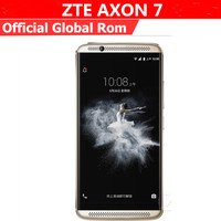 "International Firmware ZTE Axon 7 A2017 4G LTE Cell Phone Android 6.0 5.5"" 2560X1440 4GB RAM 128GB ROM 20.0MP Fingerprint NFC 1"