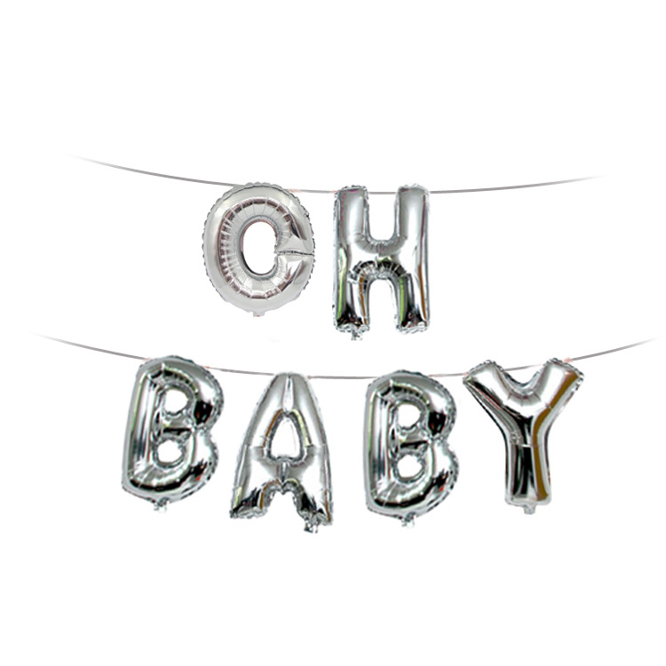 OH BABY Gender Reveal Letter Foil Balloons Its a Boy Girl Baby Shower Favors Birthday Party Decorations Kids Baby shower
