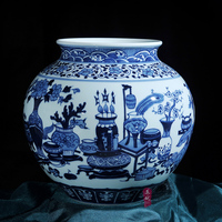 Jingdezhen ceramics antique hand painted porcelain jar vase Home Furnishing living fashion decoration technology