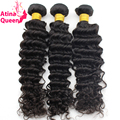 soft and smooth Brazilian deep curl virgin hair 7 A grade 3 pcs deep wave brazilian virgin hair weaving