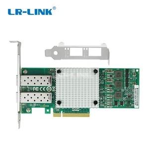 Image 2 - LR LINK 9812af 2sfp + 듀얼 포트 10 기가비트 이더넷 네트워크 카드 pci express 광섬유 서버 어댑터 nic broadcom bcm57810s