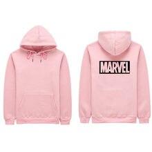 2018 nuevo Marvel MS moda Casual Hoodies Sudadera Mujer Rosa Skate algodón  Hoodie mujeres sudadera S e31032209c06