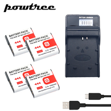 4Packs DSC-T100 3.7V 1500mAh Li-ion Battery+1Port Battery chager with LED For SONY DSC-T20 DSC-W300 DSC-W200 W100