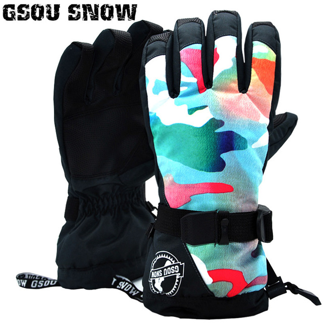 99ccc7405 2018 Gsou Snow Women Ski Gloves Windproof Waterproof Super Warm Outdoor  Sport Wear Skiing Snowboard Riding Climbing Snowmobile
