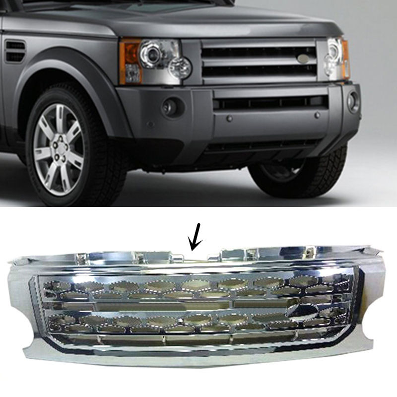 For Land Rover Discovery 3 2005 2009 Chrome Silver Front Hood