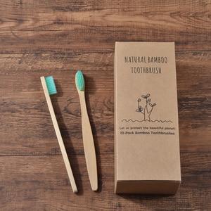 Image 3 - Custom LOGO 300 Pack Soft Bristles Toothbrush  Bamboo Toothbrush cepillo dientes Natural Eco Bamboo Fibre Bamboo Toothbrush