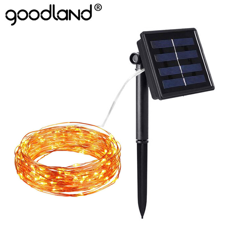 LED Solar Licht Outdoor-Solar-String Lampe Wasserdicht Fairy Lichter Solar Powered 10 mt 20 mt Girlande für Garten Dekoration