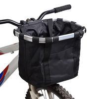 Multi Purpose Bicycle Foldable Basket Handlebar Pannier Cycling Carryings Holder Bike Riding Front Baggage Bag Pet Bag|Bicycle Bags & Panniers|   -
