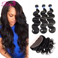 8A Ear To Ear 13x4 Full Lace Frontal Ali Queen Hair Products With Closure Cheap Peruvian Virgin Hair Body Wave With Closure