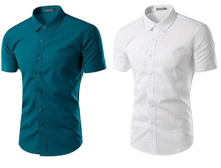 camisa social manga curta azul clara, camisa social manga curta azul atenas