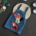 2017 New Girl Denim Straps Dress Cowboy Cartoon Mimi Mouse Fashion Positive and Negative Can Wear Girls Baby Children's Clothes